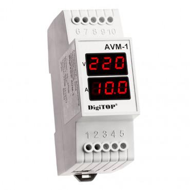 Вольтметр амперметр цифровой DigiTOP AVM-1